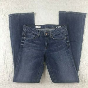 Women's Gap 1969 Jeans Midrise Perfect Boot Size 2